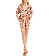 inc printed short-sleeve blouse, created for macy's
