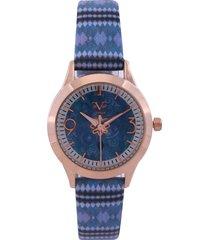 reloj azul-dorado versace 19.69