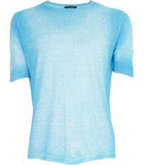 avant toi round neck half sleeves pullover in linen viscose