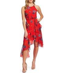 women's cece floral print asymmetrical dress