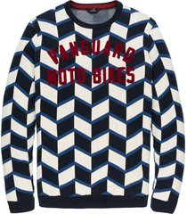 vanguard pullover ronde hals artwork vkw197136-5287 blauw
