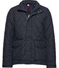 quilted jacket doorgestikte jas blauw tommy hilfiger