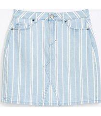 loft petite striped denim shift skirt