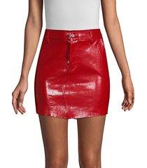 callie leather bodycon mini skirt