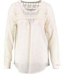 10 feet crème blouse met kant en studs