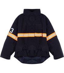 oversized fireman jacket