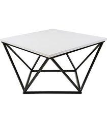 stolik kawowy curved czarno biały