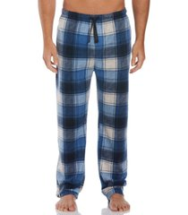 perry ellis men's relaxed-fit plaid fleece pajama pants