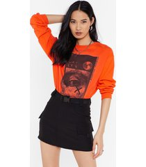 womens high-waisted belted utility mini skirt - black