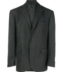 corneliani funnel neck blazer - grey