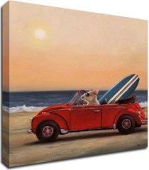 "tangletown fine art beach bound by lucia heffernan print on canvas, 24"" x 24"""