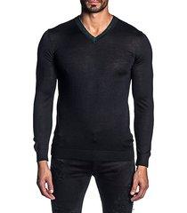 lightweight knit v-neck sweater