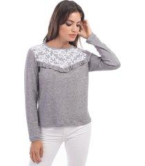 sweater gris mia loreto kelley
