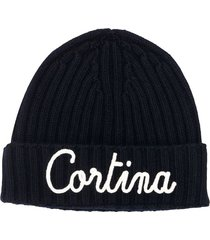 cashmere blend embroidered hat cortina