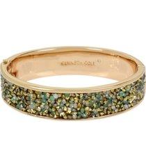 kenneth cole new york gold-tone sprinkle stone hinged bangle bracelet