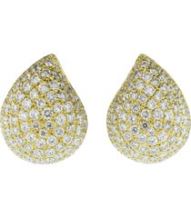 large pave diamond signature earrings