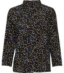 flora 3/4 shirt långärmad skjorta svart soft rebels