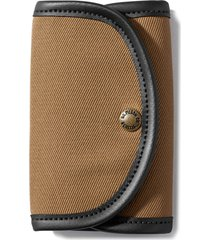 men's filson fly fishing wallet with genuine shearling -