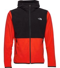 m tkaglcr fzhdie hoodie trui rood the north face