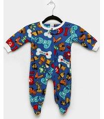 macacão bebê candy kids pijama soft pé zíper
