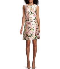 dolce & gabbana women's floral silk shift dress - pink multi - size 40 (6)