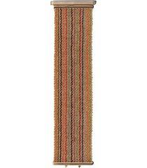 carolina bucci 18kt yellow and rose gold rainbow stripe woven bracelet