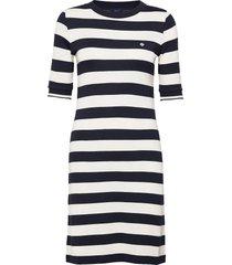 d1. bar striped jersey dress dresses t-shirt dresses blauw gant