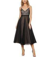 bcbgmaxazria lace & tulle a-line dress