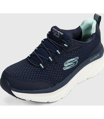 tenis training azul-blanco skechers relaxed fit