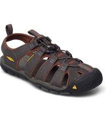 ke clearwater cnx m raven-tortoise shell shoes summer shoes sandals svart keen