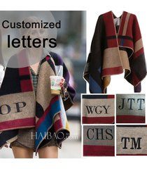 high quality edition hot sell cape poncho plaid blanket cloak outwear coat shawl
