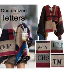 high quality edition hot sell cape poncho plaid blanket cloak outwear coat shawl