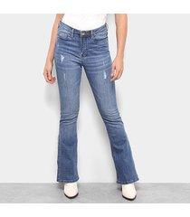 calça jeans carmim shibuya flare feminina