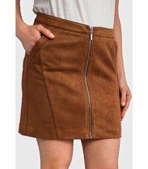 falda ash corta marrón - calce regular