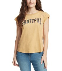 william rast molly tucked graphic t-shirt