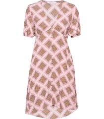petunia short dress aop 10056 kort klänning rosa samsøe samsøe