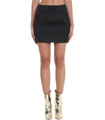 alexandre vauthier skirt in black viscose
