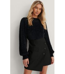 lizzy x na-kd asymmetrisk kjol - black