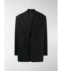 balenciaga logo print blazer