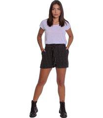 shorts hot pants de alfaiataria le julie preto - tricae