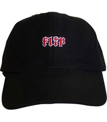 boné flip skateboards dad hat aba curva hkd logo preto