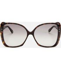 gucci women's butterfly acetate sunglasses - havana