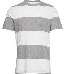 block stripe t-shirt t-shirts short-sleeved grå calvin klein