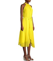 iris a-line halter hankerchief dress
