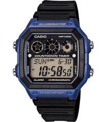 reloj azul casio youth series
