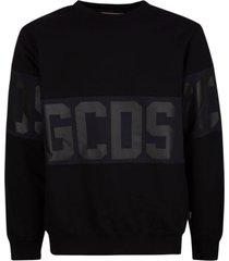 gcds tape logo sweatshirt