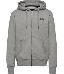 ol classic ziphood ns hoodie trui grijs superdry