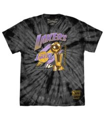 mitchell & ness men's los angeles lakers tie-dyed t-shirt