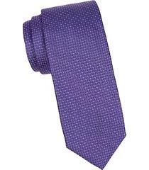 mini circle dot silk tie