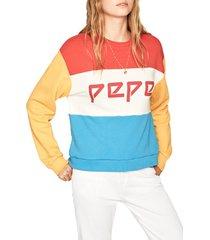 buzo rojo-amarillo-azul-blanco pepe jeans